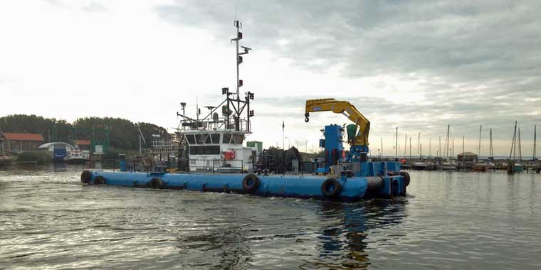 2,500 hp Multicat Type Workboat w/ 6.3-tonne Crane